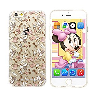 iPhone 6 Plus Coque, Disney Minnie Mouse en cristal transparent étui