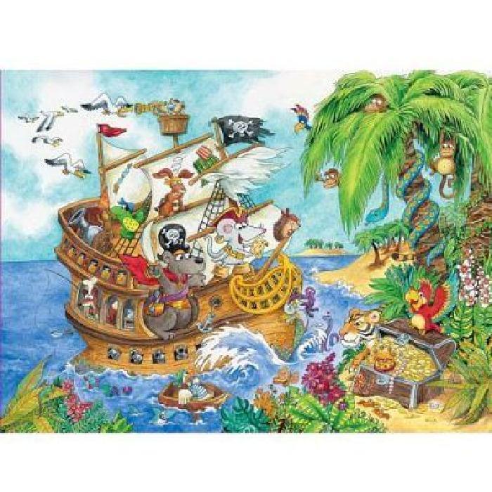 Puzzle 100 pièces XXL Le trésor des pirates Achat / Vente puzzle