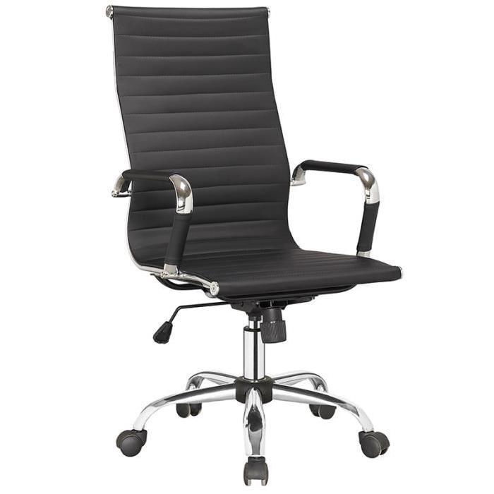 FAUTEUIL DE BUREAU NOIR DADY Achat / Vente fauteuil Noir