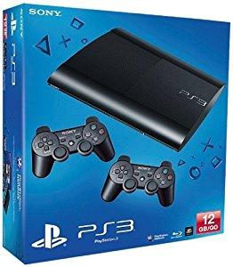 PS3 Ultra slim 12 Go noire (2 manettes): Jeux vidéo