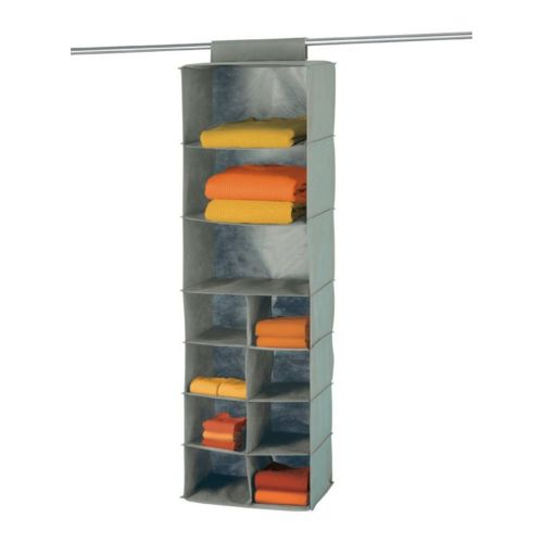 Wenko liberta étagère en textile à suspendre penderie gris pas