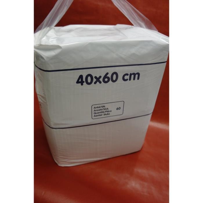 Alese economique jetable Format : 60 x 40 cm Absorption : 260 ml Poids