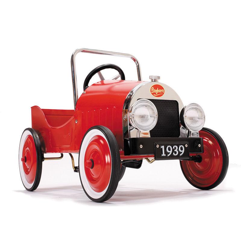 Baghera voiture à pédales classic rouge 80 x 50 cm voiture cadeau