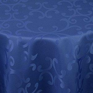 Mg Nappe En Damas (Hydrofuge) 160 X 360 cm Ovale Milano Bleu
