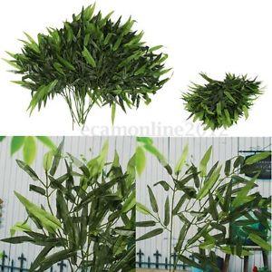 12Pcs Branches 60 Feuilles Artificiel Bambou Plants Plastique Maison