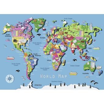 Puzzle 60 pièces : carte du monde ravensburger Acheter sur