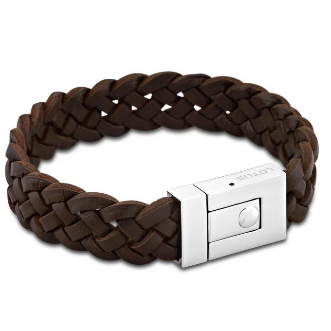 Bracelet Lotus Style Bijoux LS1379 2 1 Bracelet Cuir Marron Homme
