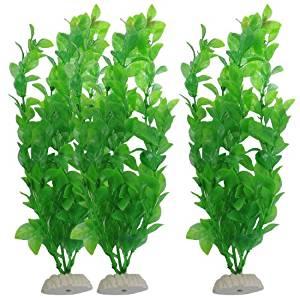 Sourcingmap Lot de 3 plantes artificielles pour aquarium 27 cm