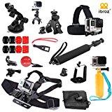 iBroz® GoPro® Pack Multi Accessoires Ultimate 16 en 1 pour Casque