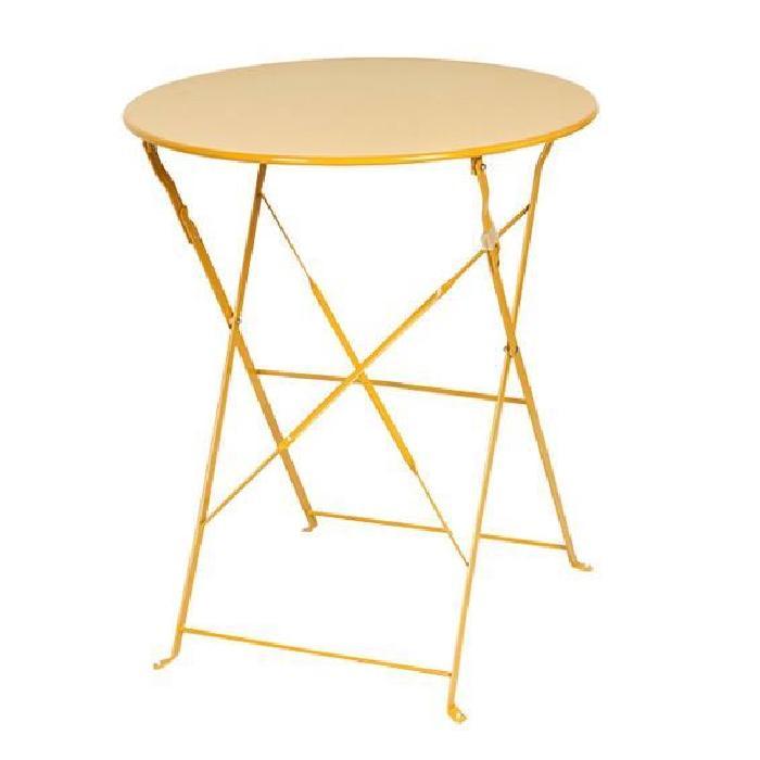 Métal ronde 60 cm Mandarine Achat / Vente table de jardin Table
