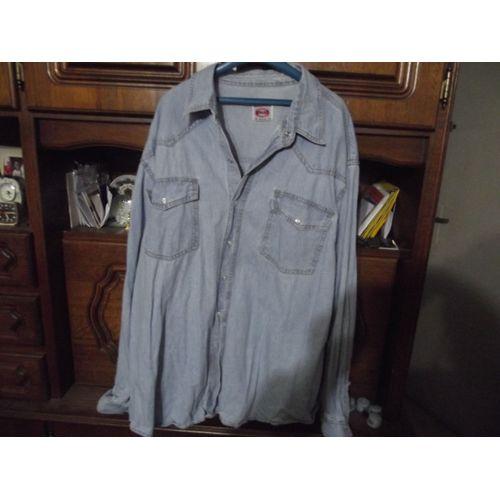 Chemise Jean» Whak's» Coton 50 Bleu Clair Achat et vente