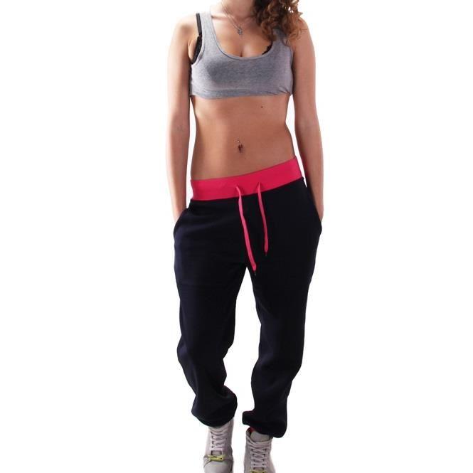 Jogging trendy bi color Noir Noir Achat / Vente survêtement Jogging