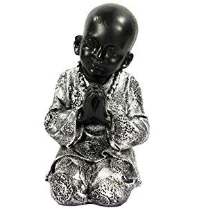 Statuette statut enfant moine style Bouddha 23 cm