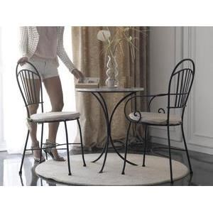 Table bistrot Ibiza Plateau en marbre blanc Achat / Vente table a