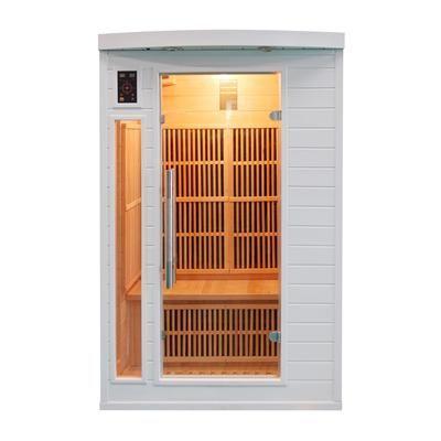 Sauna infrarouge soleil blanc 2 places Un sauna blanc infrarouge au