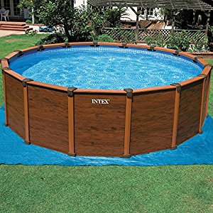 Piscine aspect bois Sequoia Spirit 5.69 x 1.35 m INTEX