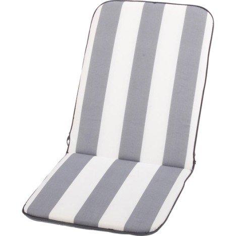Coussin d'assise et dossier de chaise ou fauteuil blanc / gris Evy
