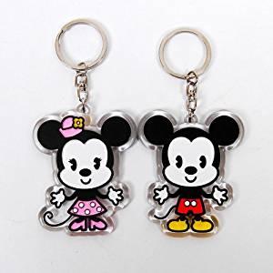 Mickey & Minnie Mouse Porte Clef Porte Clé Couple: Jeux et