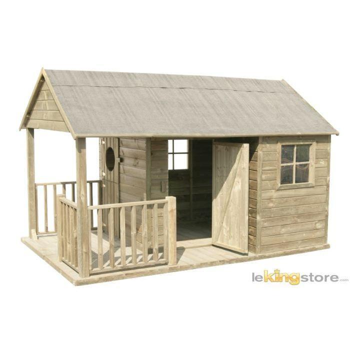 Maisonnette enfant Bois MANON Achat / Vente maison jeux extérieur