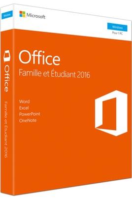 suite bureautique office 2016 famille et étudiant 4 logiciels office