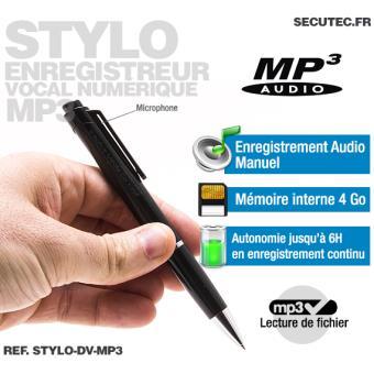 Stylo enregistreur audio numérique MP3 16Go Achat & prix Fnac