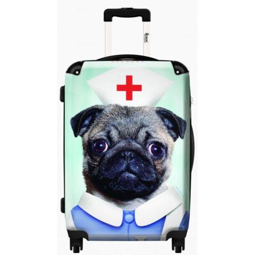 sur fond bleu, Taille : small, Avec valise : no 51 cm taille cabine