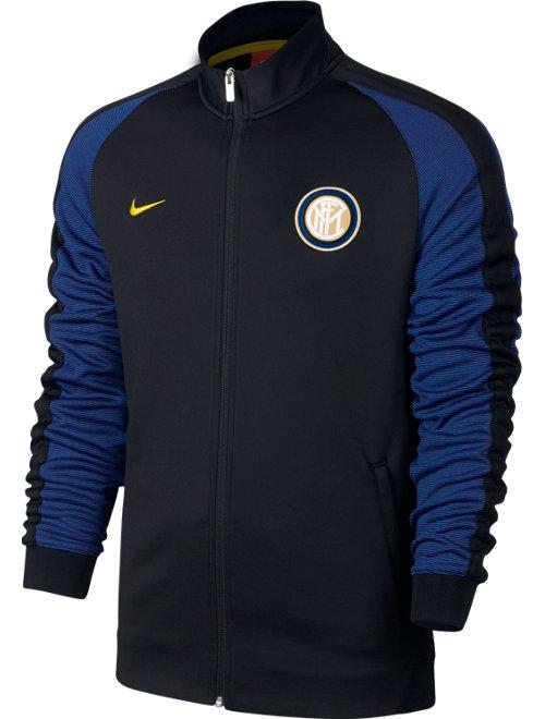 N98 Inter Milan Training Jacket Noir 2016 17 Poches avec