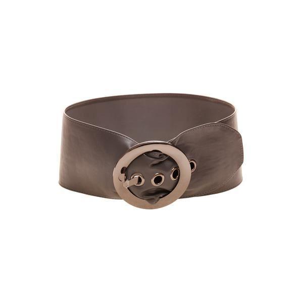 Ceinture noire large souple simili cuir Gris Achat / Vente ceinture