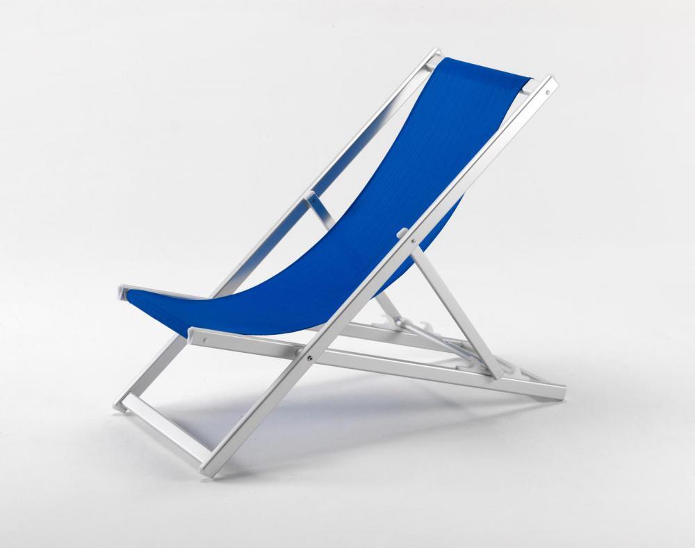 Transat chaise de plage pliant piscine aluminium jardin Chaise longue
