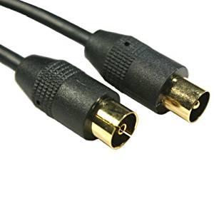 Rallonge antenne TV Câble Coaxial mâle/femelle 10 m