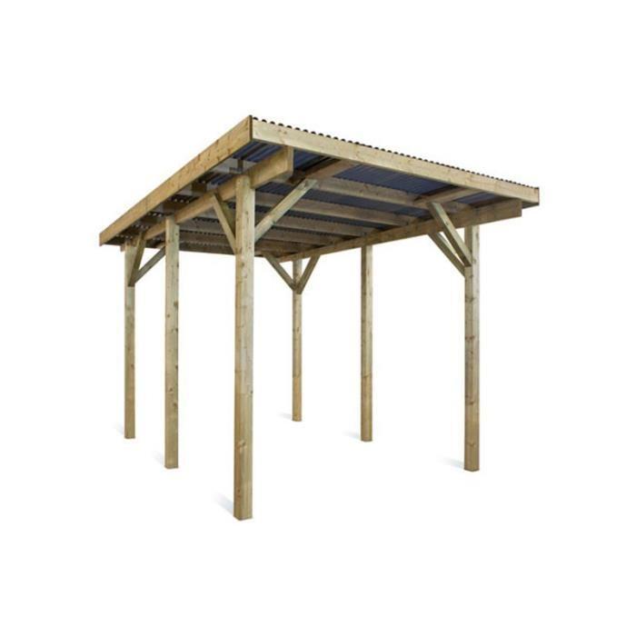Carport autoportant en bois 17.57 m² MURCIE Achat / Vente carport