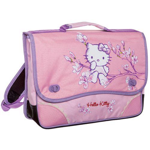 Hello Kitty Cartable scolaire imprimé . Coloris Rose. Maternelle