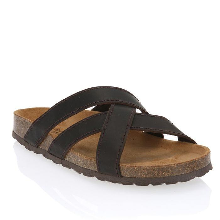 Sandales cuir Homme homme Marron Achat / Vente J. BRADFORD 6521 cuir