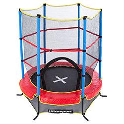 Trampoline d'intérieur pour enfants Ultrasport Jumper 140 avec filet