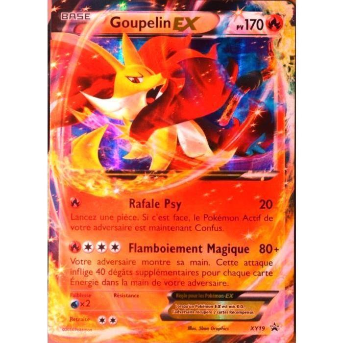 carte pokemon xy19 goupelin ex 180 pv promo