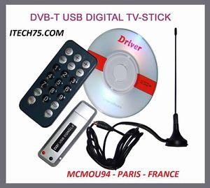 sur Cle TNT DVB T TV CHAINES en HD avec ANTENNE USB HDTV TUNER PC
