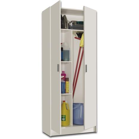 Armoires ménagères BILBAO 2 portes special balais pas cher à prix