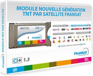 Module PCMCIA FRANSAT + Carte VIACCESS FRANSAT CAM CI+ TV Téléviseur