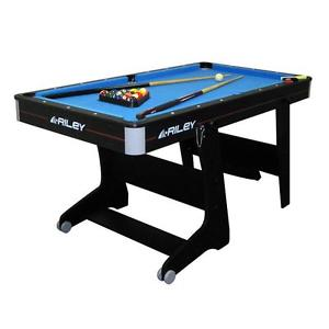 BILLARD ANGLAIS POOL TABLE PLIABLE PORTABLE JEU CAFE BAR BISTROT AVEC