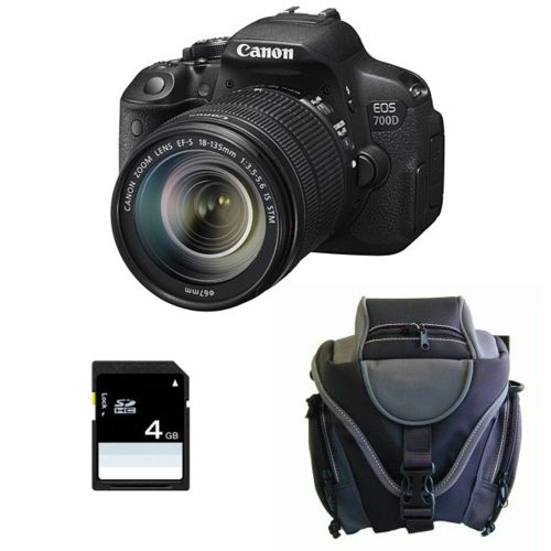 Canon Pack Canon Eos 700D + 18 135 Is Stm + Sac + Sd 4Go pas cher