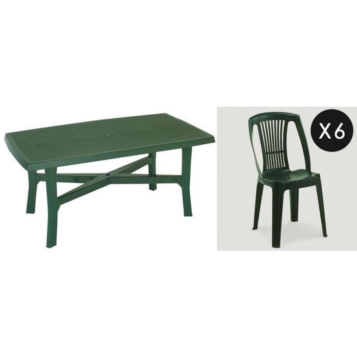 Table de jardin avec chaises en plastique topiwall - Table et chaise de jardin plastique ...