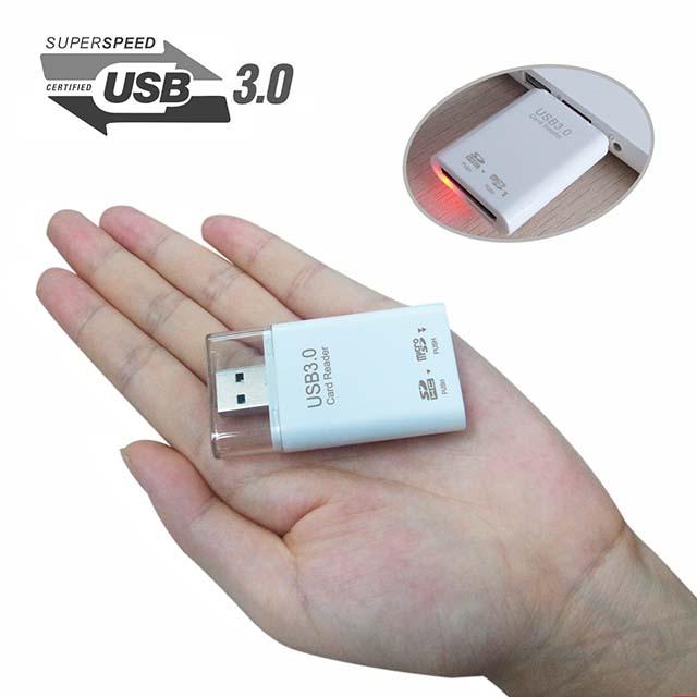 sur LECTEUR CARTE MEMOIRE USB 3.0 SDXC SDHC SD MICROSD ADAPTATEUR CLÉ