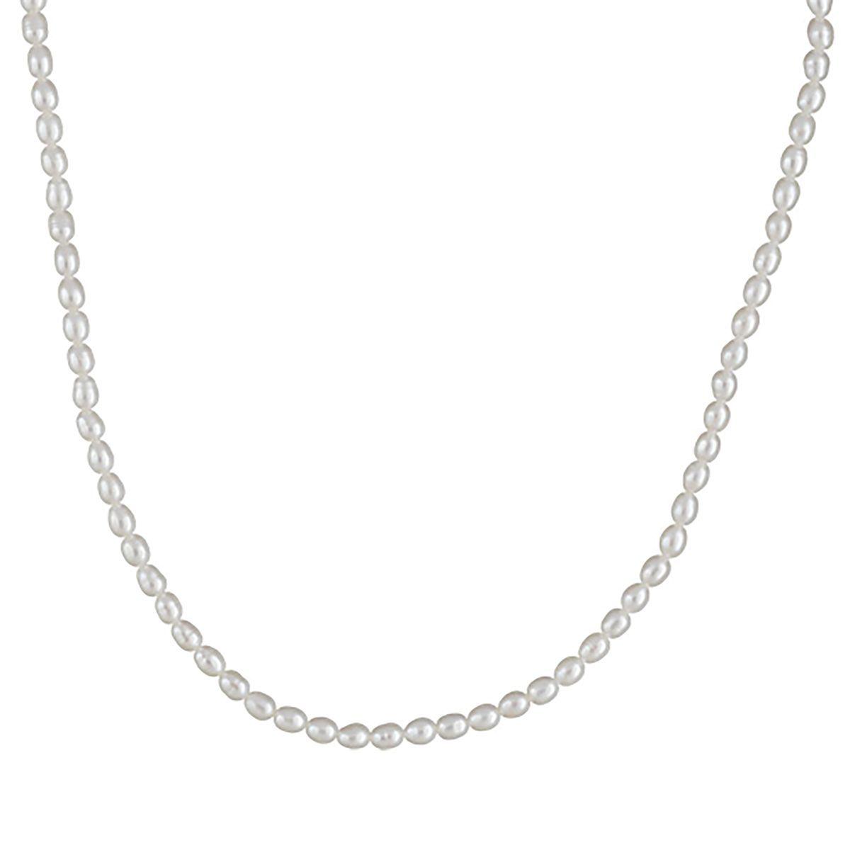 Collier Femme Longueur Réglable: 40 à 45 cm Perles de Culture