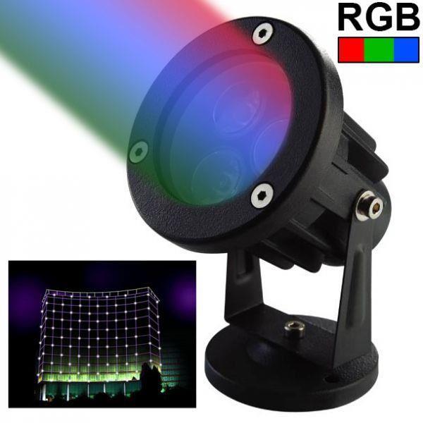Projecteur extérieur LED spot lumineux RGB vert rouge bleu 3W 240LM