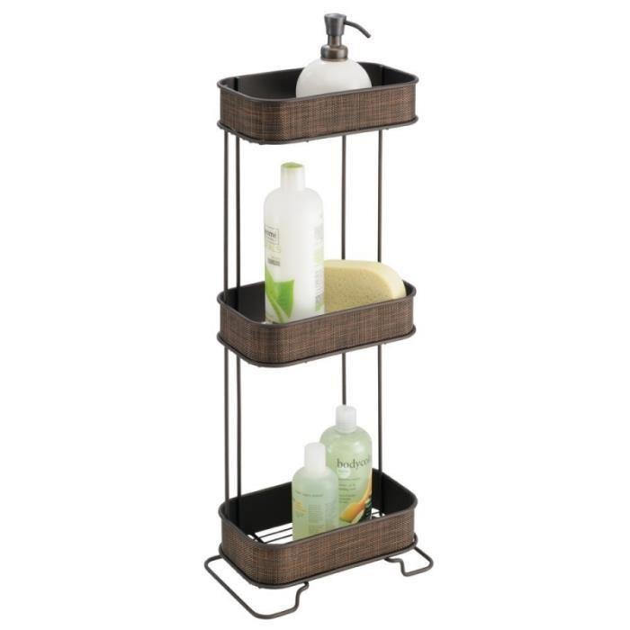 Meuble de rangement très stable et autoportant de salle de bain, de