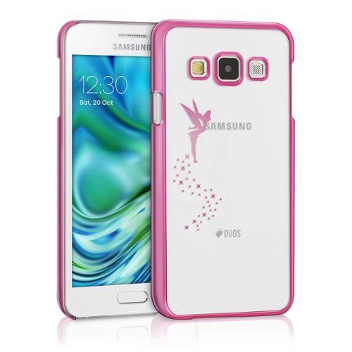 ® Étui Rigide Motif Fée Pour Samsung Galaxy A3 En Transparent Rose