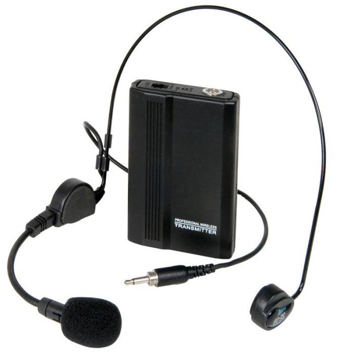 VHF Micro Casque 173.8MHz Micro sans fil VHF à construction casque
