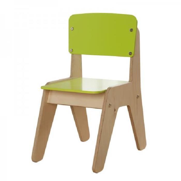 en bois enfant Millhouse vert citron Cette chaise en bois enfant