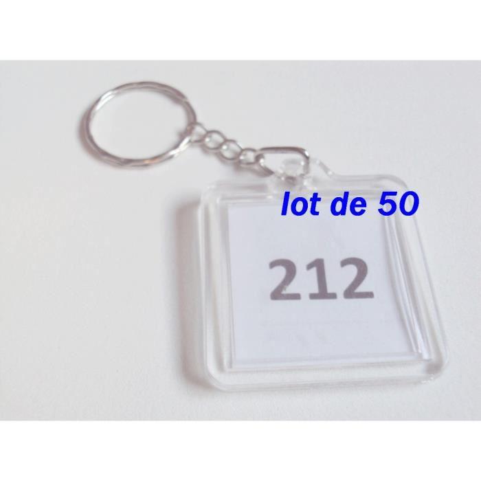 Lot de 50 ! porte clefs à personnaliser avec leur anneau porte clef