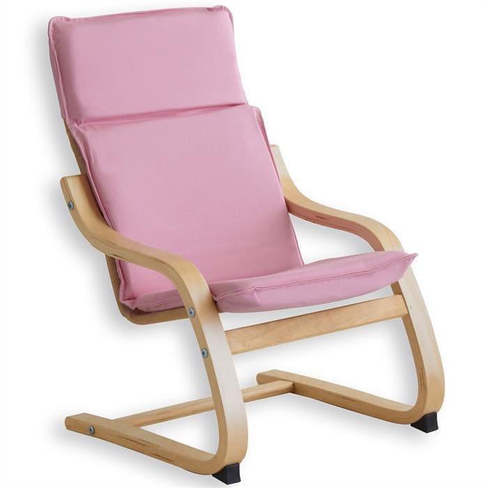 Fauteuil relax à bascule enfant coton rose Achat / Vente fauteuil